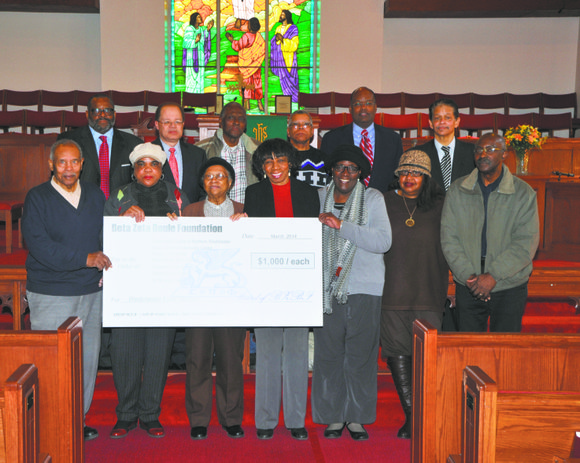 In White Plains, N.Y., the Beta Zeta Foundation presented awards