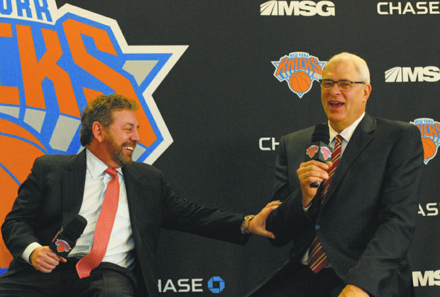 James Dolan was beaming throughout the media conference that introduced the return of Phil Jackson as the man who will make all the basketball decisions.