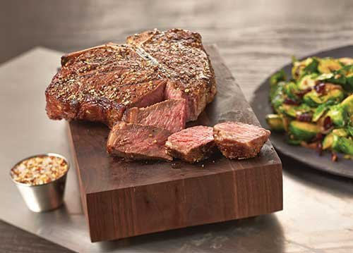 Quite possibly the ultimate steak, the T-bone embodies the rich blend of varied beef flavors that steak lovers crave, from ...