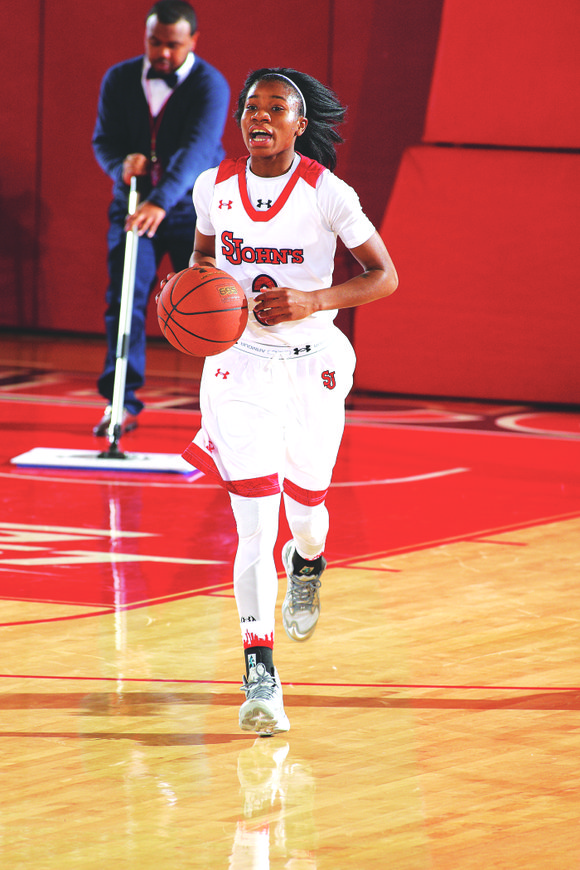 St. John's guard Aliyyah Handford scored 27 points to keep the game alive, but the Red Storm's first-round victory in ...