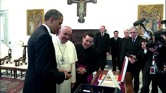 U.S. President Barack Obama and Pope Francis met Thursday for the first time at Vatican City, offering a chance for ...