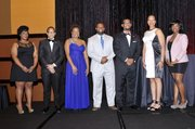 UHBAA Pathway to Excellence Scholars (L to R) Chelsea Adams, Benjamin Broadous, Courtney Caldwell, Branston Harris, Robert Melvin, Latasha Micheaux, Princess Roberts