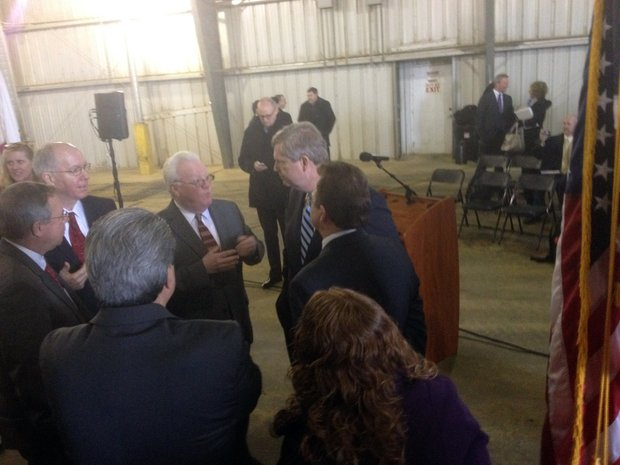 U.S. Department of Agriculture Secretary Tom Vilsack visited the DeLong Agriculture loading facility in Joliet Friday to discuss passage of a new farm bill.