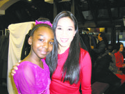 FSH skater Ila Epperson with honoree Michelle Kwan (r)