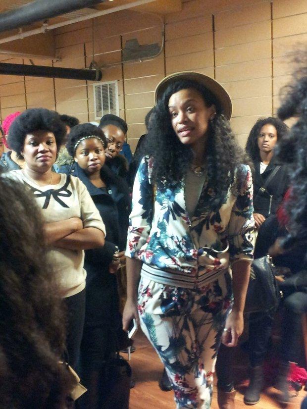 HeyFranHey's Francheska Medina talking to fans