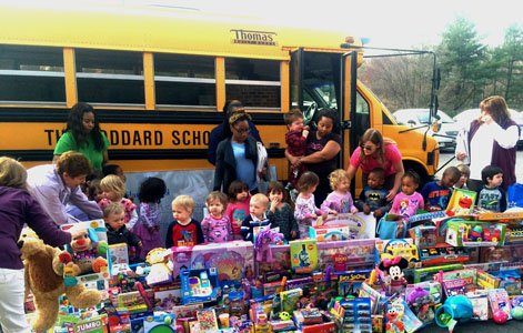 Typically, a yellow school bus transports students. However, on Thursday, April 3, 2014 a busload full of another type of ...