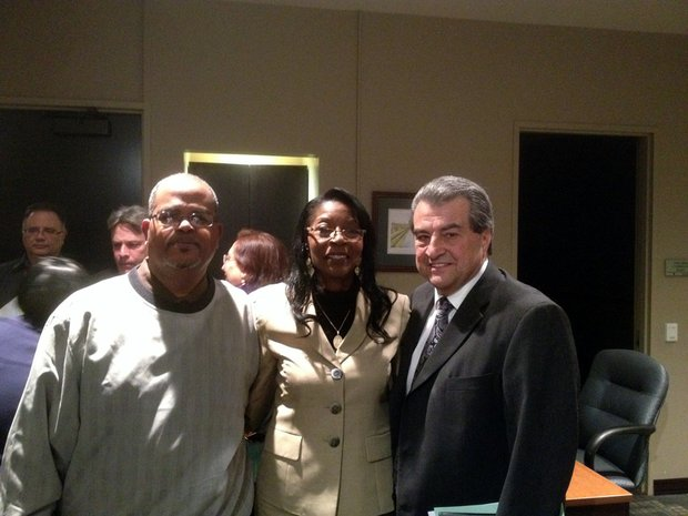 Bettye Gavin is seen here with her husband Archie (left) and Mayor Tom Giarrante.