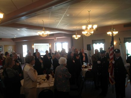 Guests mingle before the Lockport State of the City luncheon.