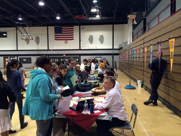 More than 35 careers were represented at the College & Career Fair held Thursday at Brooks Middle School in Bolingbrook.
