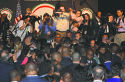 Obama in the crowd at the 2014 National Action Network Convention