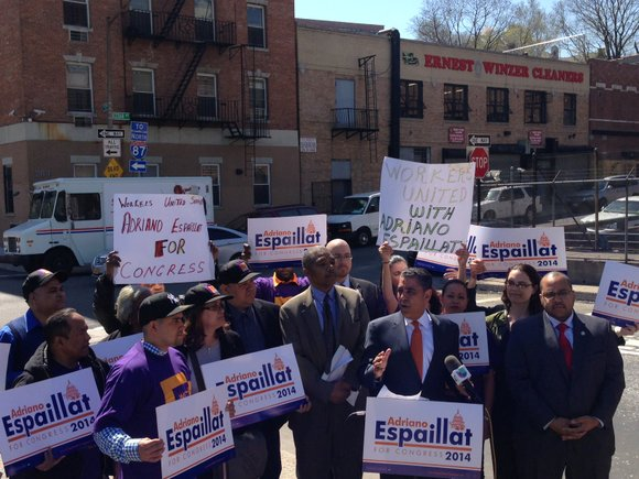 An affiliate of Workers United SEIU has endorsed Adriano Espaillat for Congress.