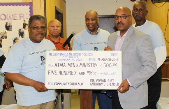 The Annapolis Interdenominational Ministerial Alliance (AIMA) Men's Ministry held its Quarterly Prayer Breakfast on March 29, 2014 at Mt. Moriah ...