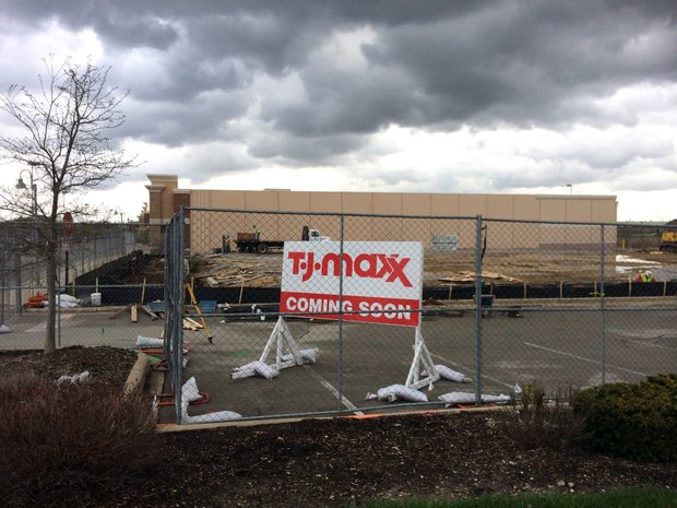 A new T.J. Maxx is under construction near the northeast corner of Airport and Weber roads in Romeoville and is expected to open in the fall. When it does, an existing T.J. Maxx store along Larkin Avenue in Crest Hill will be closing.