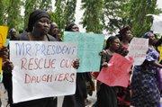 Mothers demonstrate in Nigeria demanding help in finding their kidnapped daughters