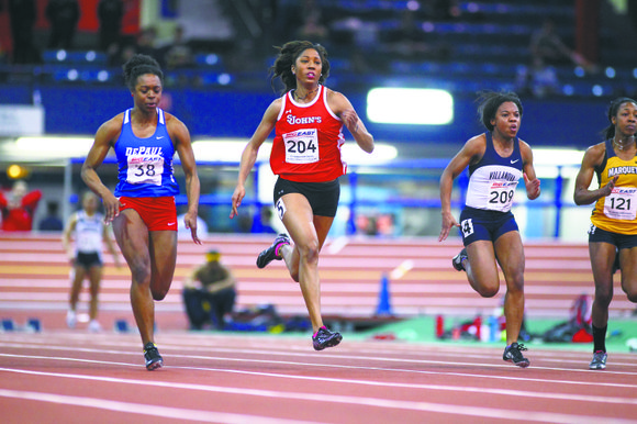St. John's senior sprinter Corrine Williams is collecting memories, souvenirs and lots of photos