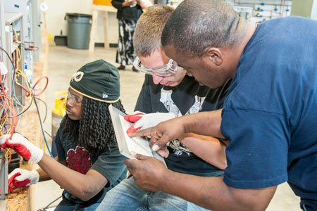 College of Southern Maryland (CSM) HVAC Instructor Shawn Richardson watched silently as his students methodically manipulated wires and connections in ...