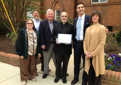 Annapolis Mayor Michael Pantelides announced that St. Mary's Parish is the first church to be awarded the City of Annapolis' ...