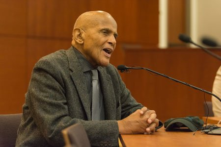 Actor and social activist Harry Belafonte visited the University of Baltimore (UB) as a guest lecturer and speaker for the ...