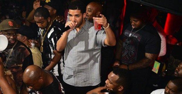 Drake on the mic