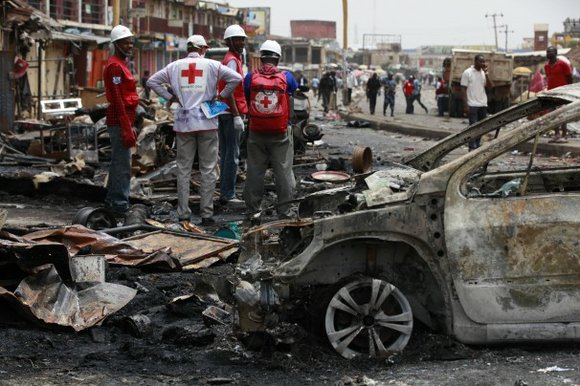 A series of explosions tore through an open-air market in the capital of the volatile western Chinese region of Xinjiang ...