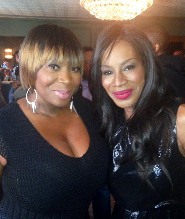 Bevy Smith and Amma Asante (left to right) at Belle screening