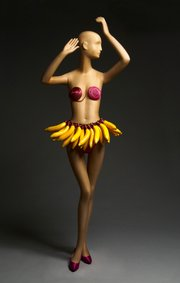 Josephine Baker Banana Dance Costume by Patrick Kelly with jewelry designer David Spada Fall/Winter 1986-87