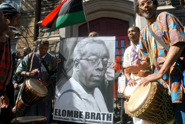 March to honor Elombe Brath in Harlem on May 31, 2014