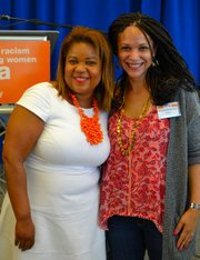 CEO Dr. Danielle Moss Lee and Melissa Harris Perry at the Potential to Power Girls Symposium.