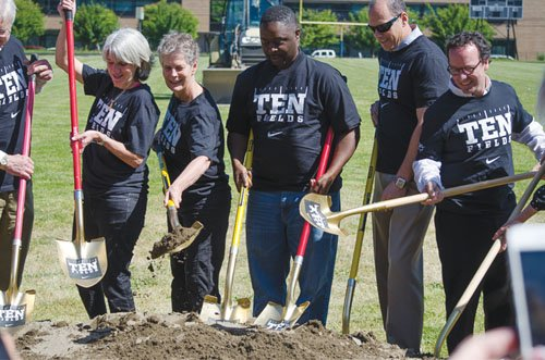 A 10-year community-wide effort to provide every Portland high school with a new track and a synthetic turf field took ...