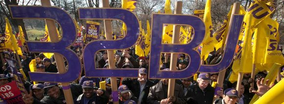 The local chapter of SEIU, 32BJ, is demanding fair compensation for their labor. Workers of the West Village's 421 Hudson ...