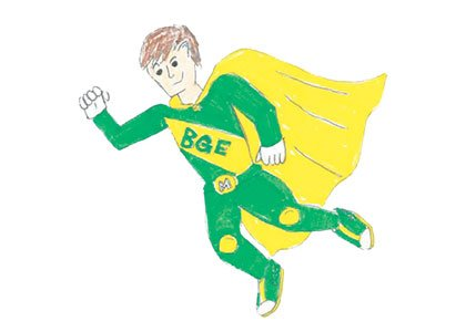 BGE unveiled its new natural gas safety hero, Captain Mercaptan, based on designs submitted by area elementary students during the ...