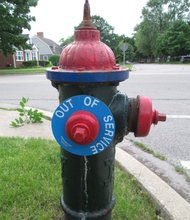 This fire hydrant at the corner of Taylor Street and Midland Avenue is one of the 109 that Joliet officials know for certain is not working.
