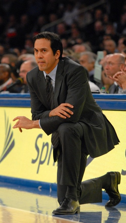 Miami Heat coach Erik Spoelstra will spend the offseason with Heat President Pat Riley going over their roster and critiquing their dismal playoff run.