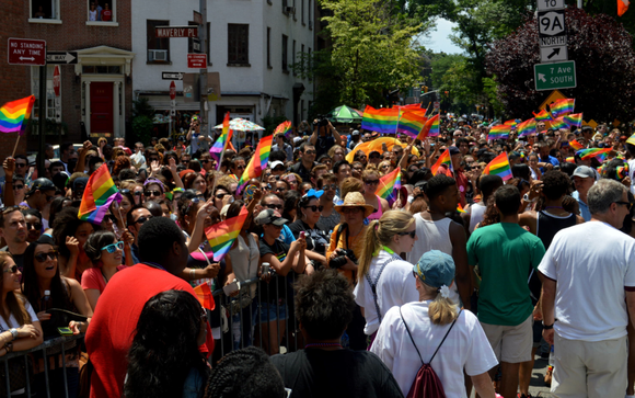 The Gay Pride parade started at noon on 36th Street and Fifth Avenue and ended at Greenwich and Christopher streets ...