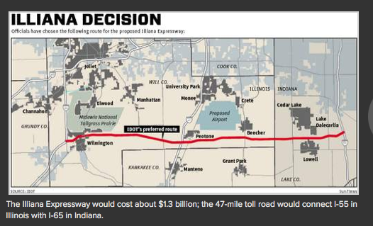 The forum is to bring residents up to speed on the proposed roadway, which will link Interstate 55 in Illinois ...