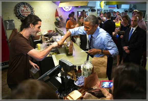 President Obama had lunch at a Texas BBQ restaurant last week. But it was what the president said when he ...