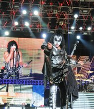 KISS performs in concert the Rock USA Festival on Oshkosh, Wisconsin on July 16, 2011.
