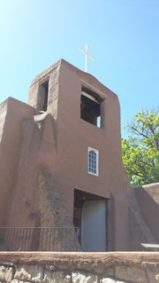 Site on walking tour in Santa Fe, New Mexico
