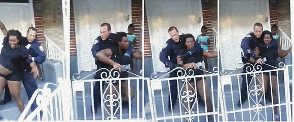The Black community is in an uproar after a video surfaced showing a seven-months pregnant woman being held in an ...