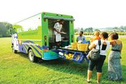Real Food Farm's Mobile Farmers Market selling fresh, healthy produce at Lake Montebello.