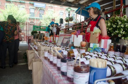 New York farmers come from update to sell their produce at La Marqueta in East Harlem. 08.07.14
