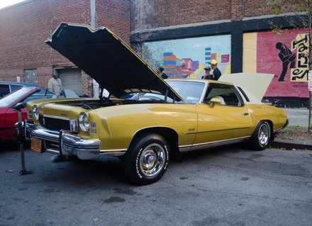 This golden 1973 Chevrolet was parked on a side street. #HarlemWeek (08/17/2014)