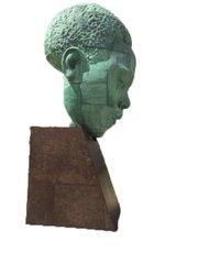 """Charlie Parker sculpture, """"Bird Lives,"""" by Robert Graham in Kansas City, Mo"""