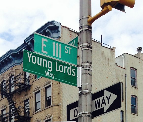 The corner of E. 111th St. and Lexington Ave. was changed Saturday to Young Lords Way, honoring the Puerto Rican ...