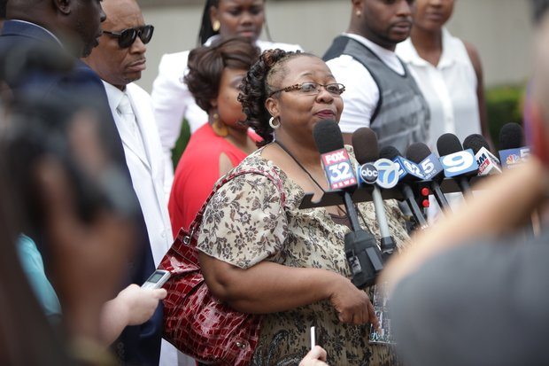 """Carla Kent, the aunt of 22-year-old murder victim Eric Glover, told reporters, """"Will County got it right today,"""" following the judge's ruling that Bethany McKee was guilty of killing Glover and Terrance Rankins."""