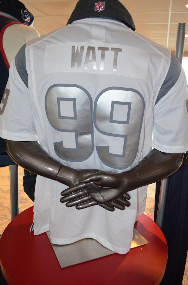 Limited edition J.J. Watt platinum jersey