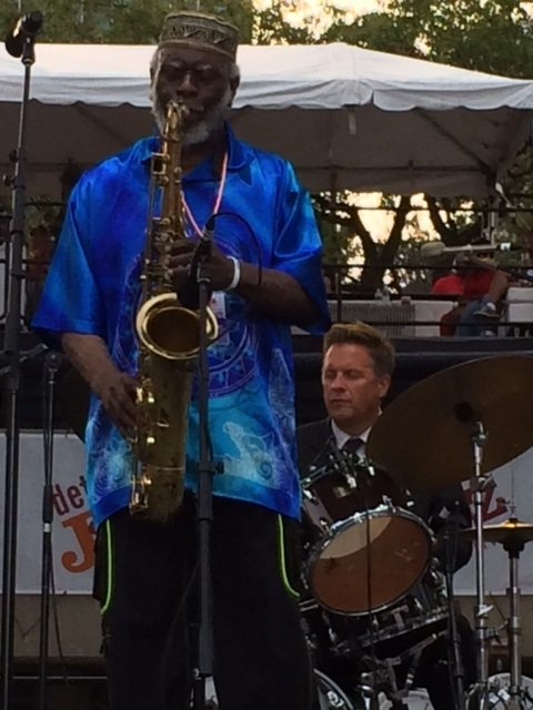 Rain, the demon of outdoor jazz festivals, spread its hysterical tears over the Detroit Jazz Festival last week, denying bassist ...