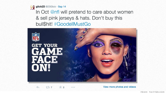 "A picture of a woman CoverGirl was using on social media sites for its ""Get Your Game Face On"" campaign ..."