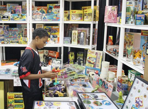 Delano McNair Jr. checked out the toy display.