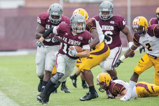 VUU wide receiver Donte Gross snagged seven passes for 86 yards in the Panthers' game against the University of Charleston. The Panthers lost 38-21 at Hovey Field last Saturday.